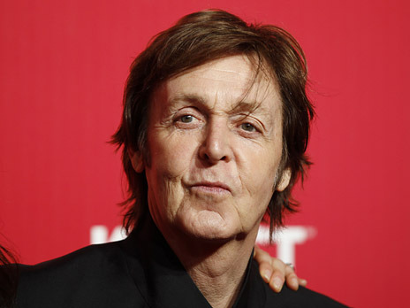 Paul McCartney poses at the 2012 MusiCares Person of the Year tribute honoring McCartney in Los Angeles