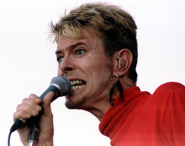 "File photo of David Bowie performing at the music festival ""Out In The Green"" in Frauenfeld"
